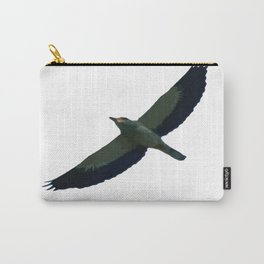 European Roller In Flight Silhouette Vector Carry-All Pouch