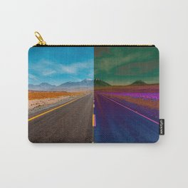 two-color road, border Carry-All Pouch