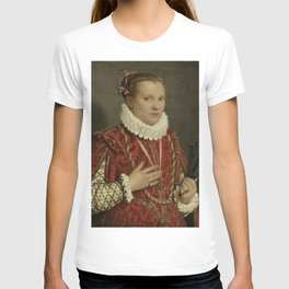 Giambattista Moroni - Portrait of a young Woman T-shirt