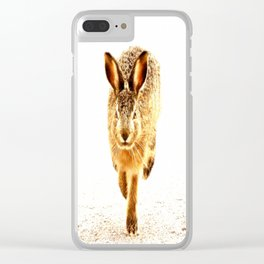 Wait For Me Guys! Hare running #decor #society6 Clear iPhone Case
