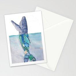 Marine debris whale Stationery Cards