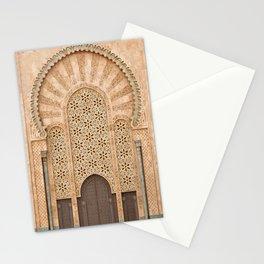 Door of Hassan II Mosque in Casablanca Morocco Stationery Cards
