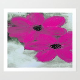A POP OF PINK Art Print