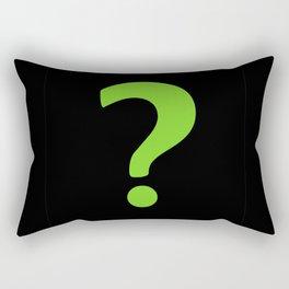 Enigma - green question mark Rectangular Pillow