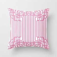 rockabilly lines Throw Pillow