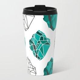 Crystal clear Metal Travel Mug
