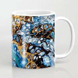 Gold and Blue Flow Coffee Mug