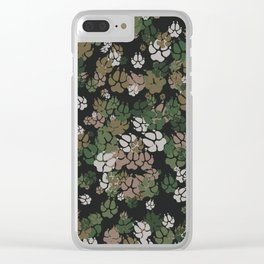 Canine Camo WOODLAND Clear iPhone Case