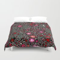 sci fi Duvet Covers featuring Sci-Fi Fantasy Cosmos by MehrFarbeimLeben