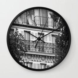 Champs Elysees Windows - Polaroid Project Wall Clock