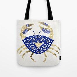Crab – Navy & Gold Tote Bag