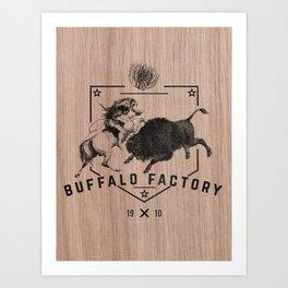 BUFFALO FACTORY HISTORY Art Print