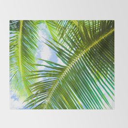Aloha Lāhainā Palms Maui Hawaii Throw Blanket