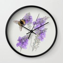Watercolor Bumble Bee Wall Clock