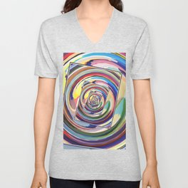 Spinning Colors Abstract Unisex V-Neck