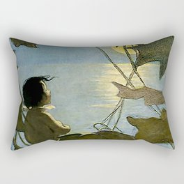 """""""The Water Baby"""" by Jessie Willcox Smith Rectangular Pillow"""