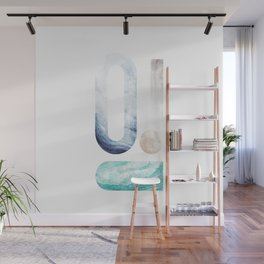 modern minimal studies of shape / agate abstract Wall Mural