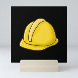 Hardhat Construction Worker Craftsman Mini Art Print