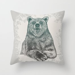 Bear Portrait Throw Pillow