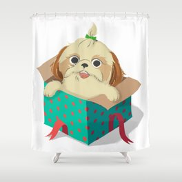 Little Dog Shower Curtain