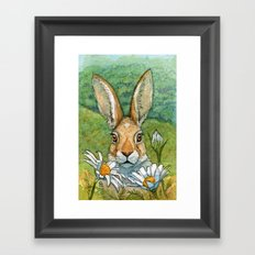 Funny bunnies - with Chamomiles 889 Framed Art Print