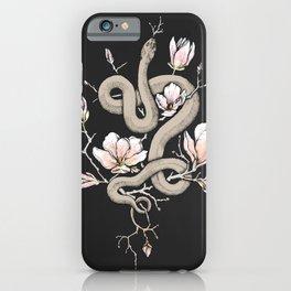Magnolia and Serpent iPhone Case