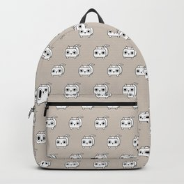 Cat Loaf - White Kitty Backpack