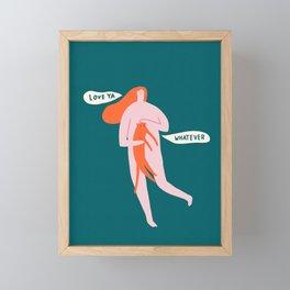 Love ya Framed Mini Art Print