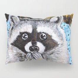 Mischief the Raccoon Pillow Sham