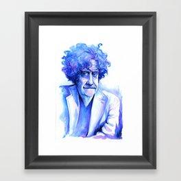 Blue Vonnegut Framed Art Print