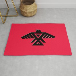 Thunderbird flag - Red background HQ image Rug