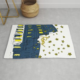 Rome Italy Colosseum Starry night Rug