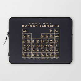 Periodic Table of Burger Elements - Black Laptop Sleeve