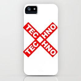Techno iPhone Case