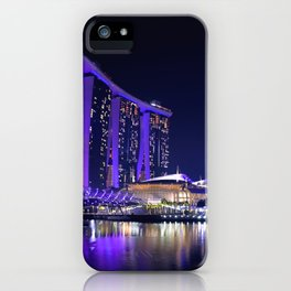 Blue Singapore by #Bizzartino iPhone Case