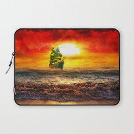 Black Pearl Pirate Ship Laptop Sleeve