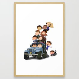 Puppy Pile Framed Art Print