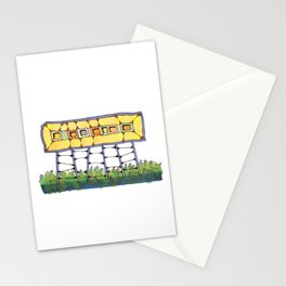 Funky yellow architectural design 51 Stationery Cards