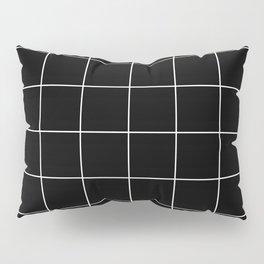 WINDOWPANE ((white on black)) Pillow Sham