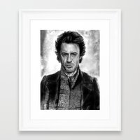 sherlock holmes Framed Art Prints featuring Sherlock Holmes by ChrisPastel