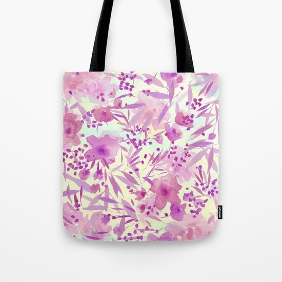 pink pretty flowers Tote Bag