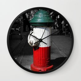 Little Italy Fire Hydrant Wall Clock