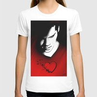 stiles T-shirts featuring Black Heart - Stiles by xKxDx