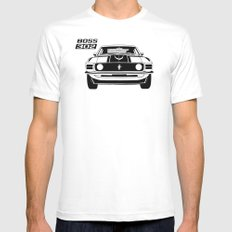 Boss 302 White Mens Fitted Tee MEDIUM