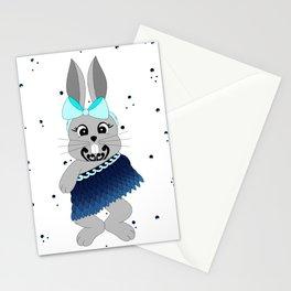Miss Rapeti (turquoise splash) Stationery Cards