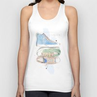 converse Tank Tops featuring Converse Shoes by Jessica Feral