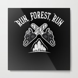 Run, Forest, Run Metal Print