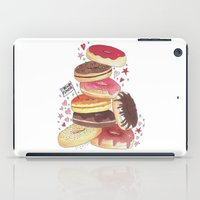 donuts iPad Cases featuring DONUTS by TOO MANY GRAPHIX