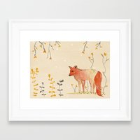 howl Framed Art Prints featuring HOWL by MEERA LEE PATEL