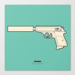 FAMOUS MOVIE WEAPONS - James Bond Canvas Print